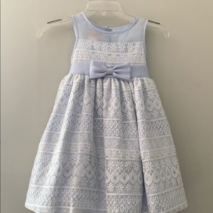 Other - Spring summer worn once pale blue white overlay.